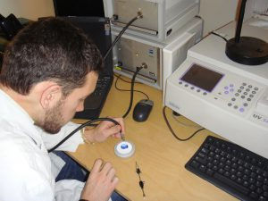 Patrick tests sapphire UV-VIS
