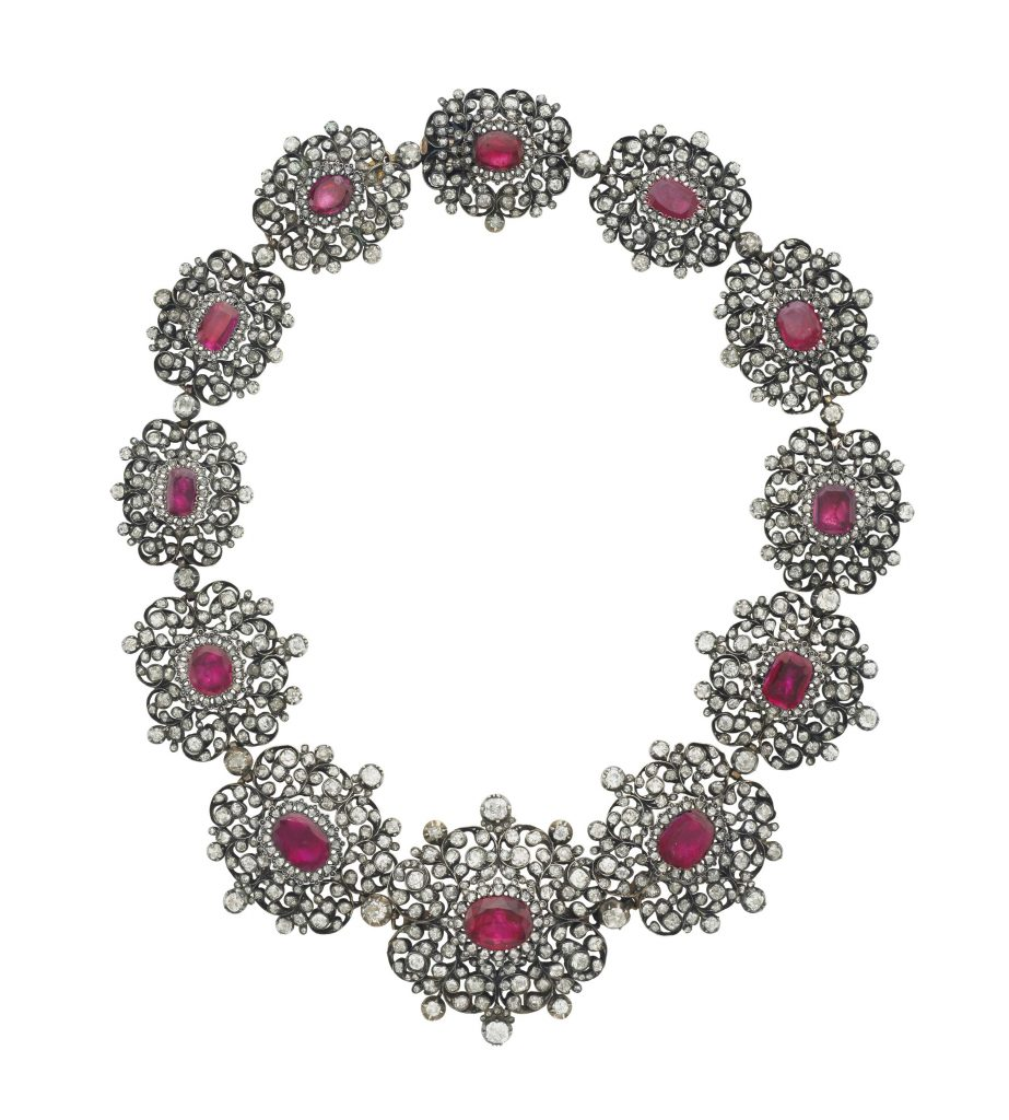 antique ruby diamond necklace christies