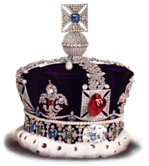black princes ruby imperial crown