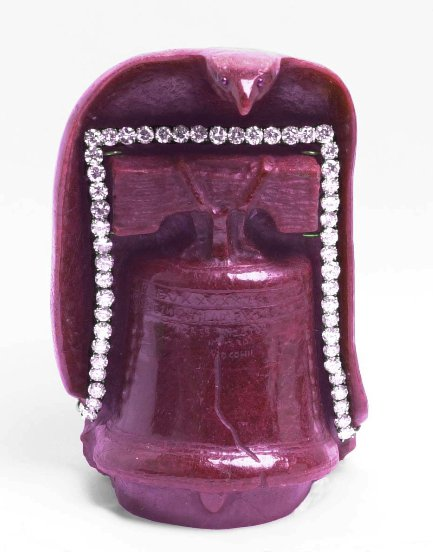 carved ruby liberty bell