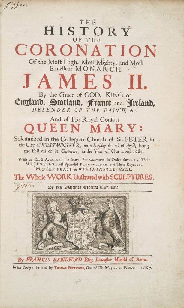 coronation james II history book