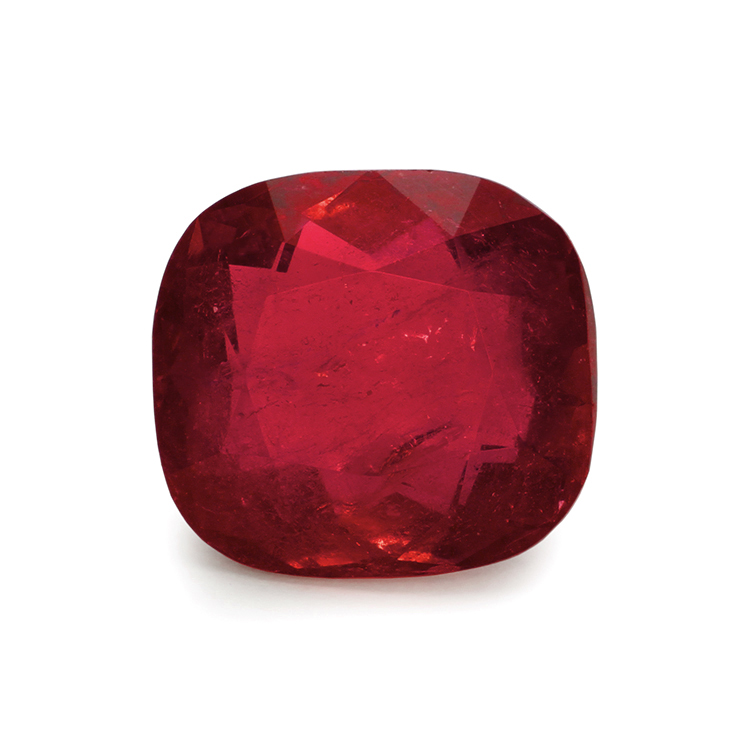 cushion cut ruby gemstone