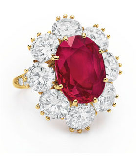 elizabeth taylor ruby ring christies