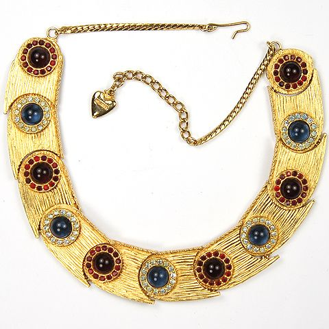 gold ruby diamond mosell necklace