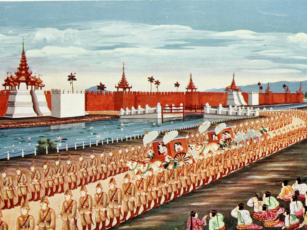 king thibaw leaving mandalay saya chone