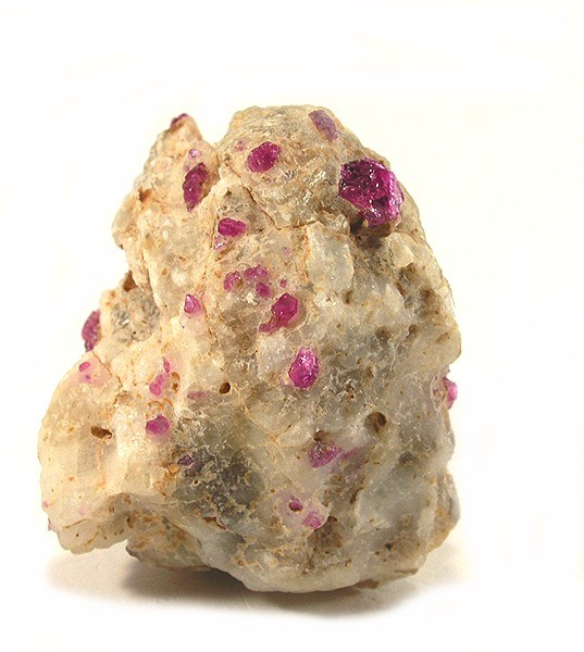 myanmar ruby in calcite