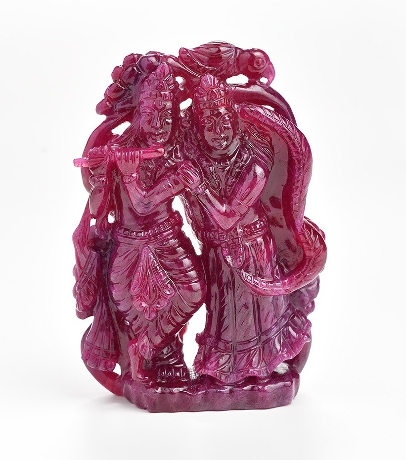 radhakrishna carved ruby