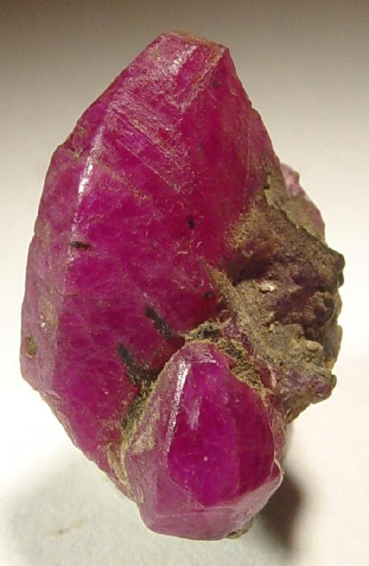 ruby corundum crystal