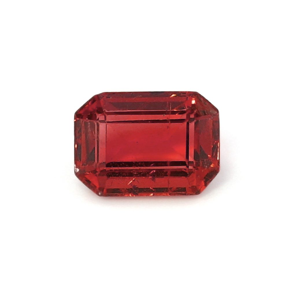 ruby emerald cut gemstone
