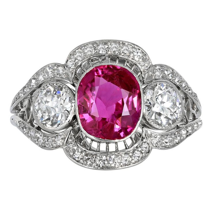 ruby filigree heirloom ring