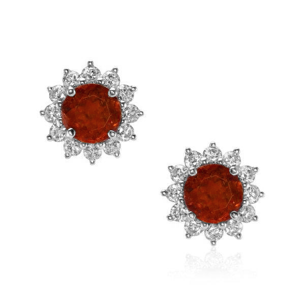ruby starburst earrings