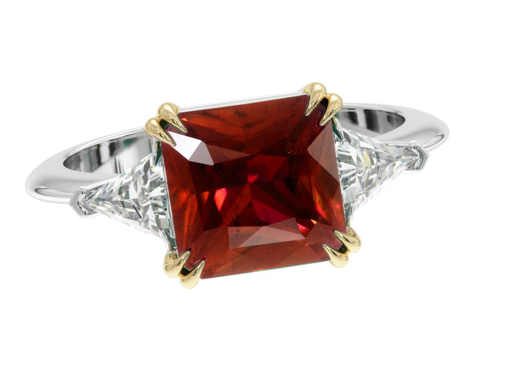heat treated ruby ring