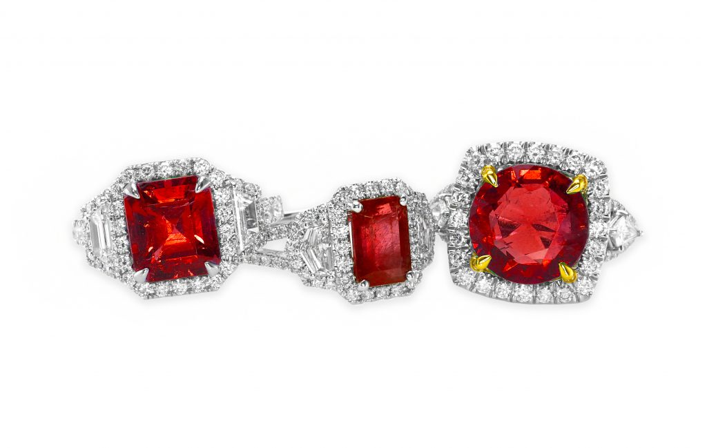 diamond ruby rings