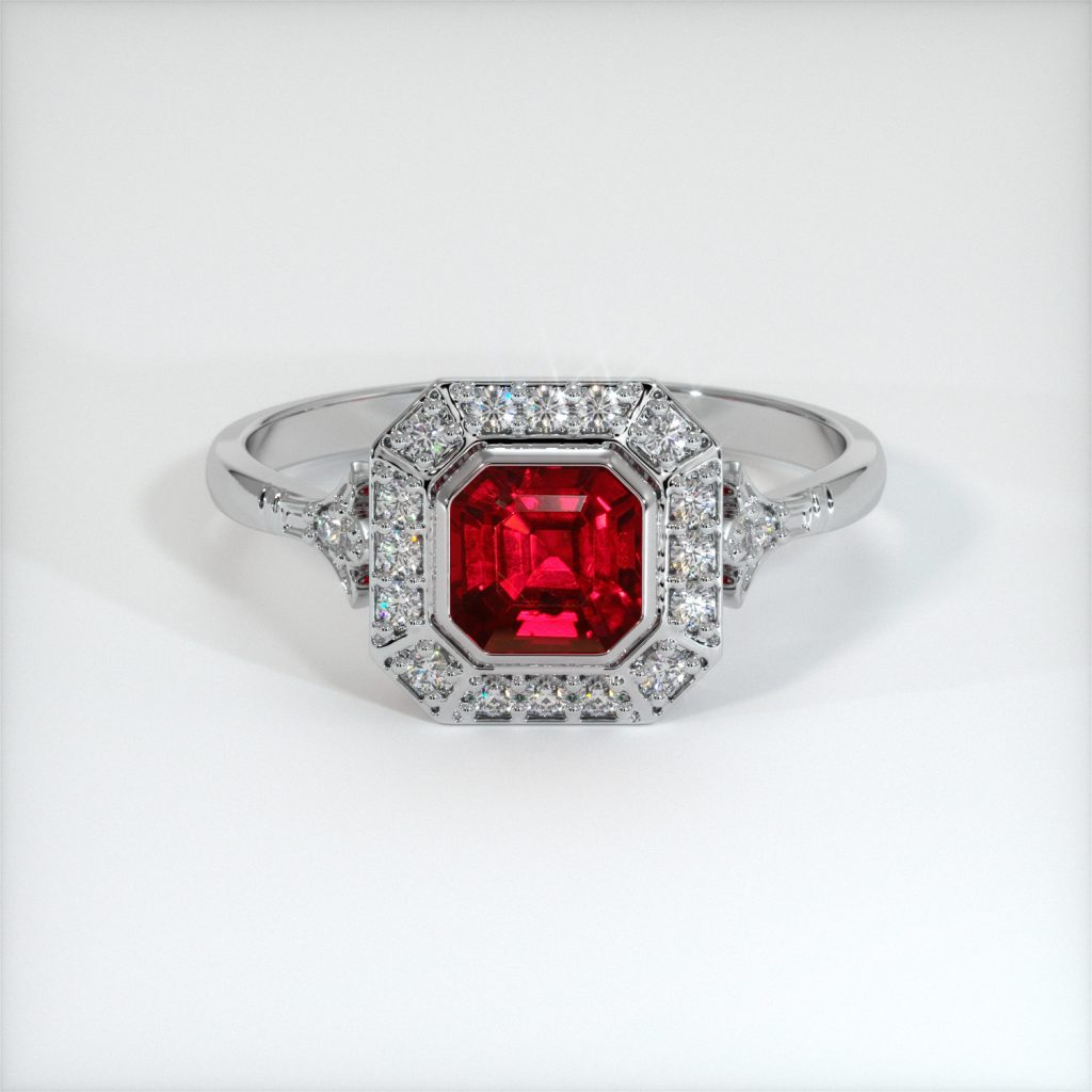 excellent clarity ruby ring