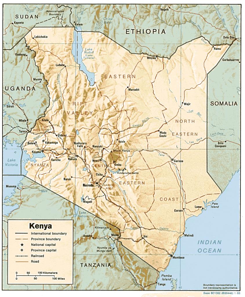 map kenya regions rubies