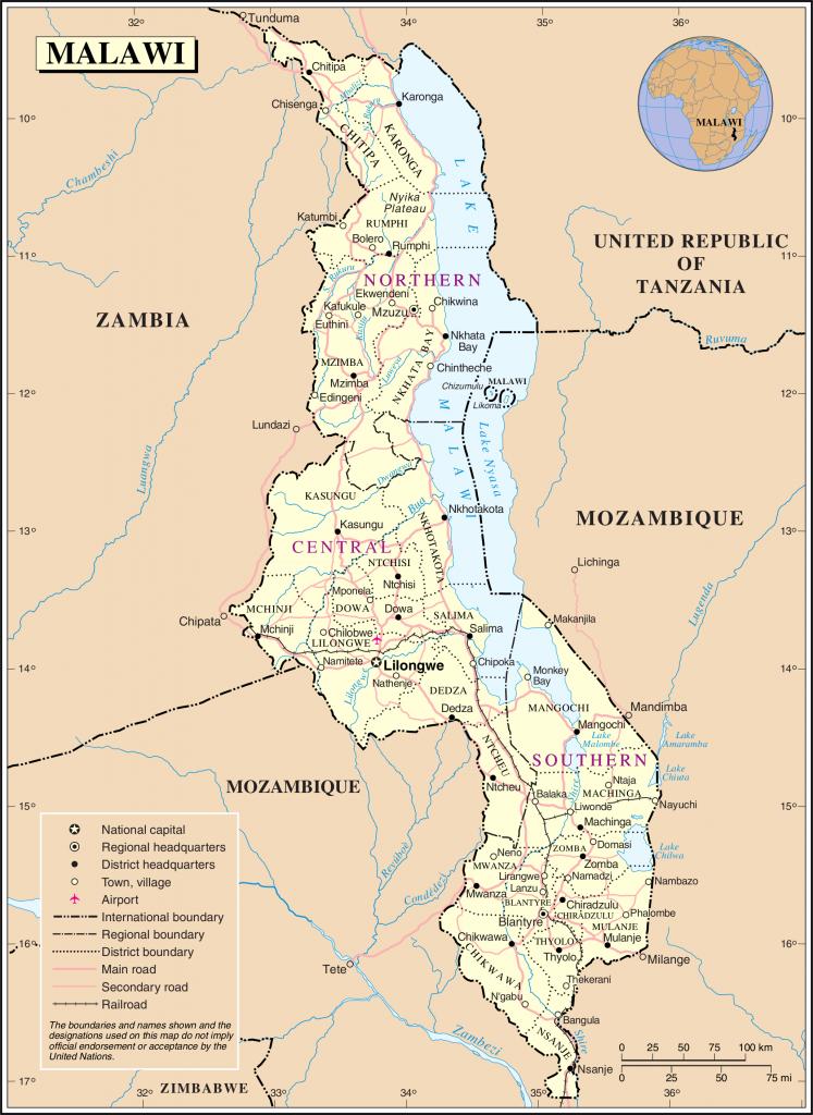map malawi rubies