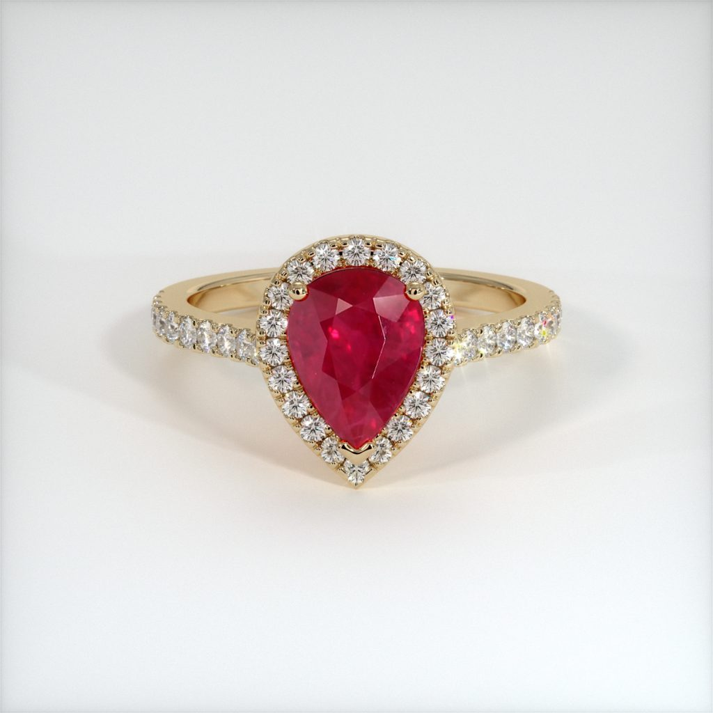 pear shaped ruby engagement ring