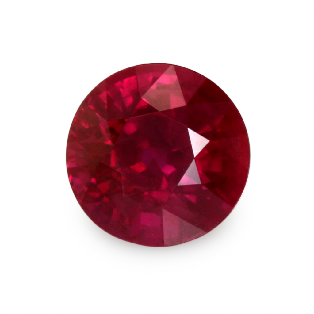 round cut natural ruby