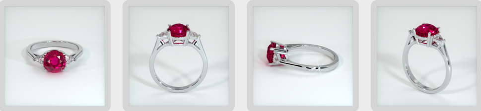round cut ruby engagement ring rendering