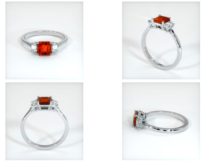 ruby ring CAD rendering