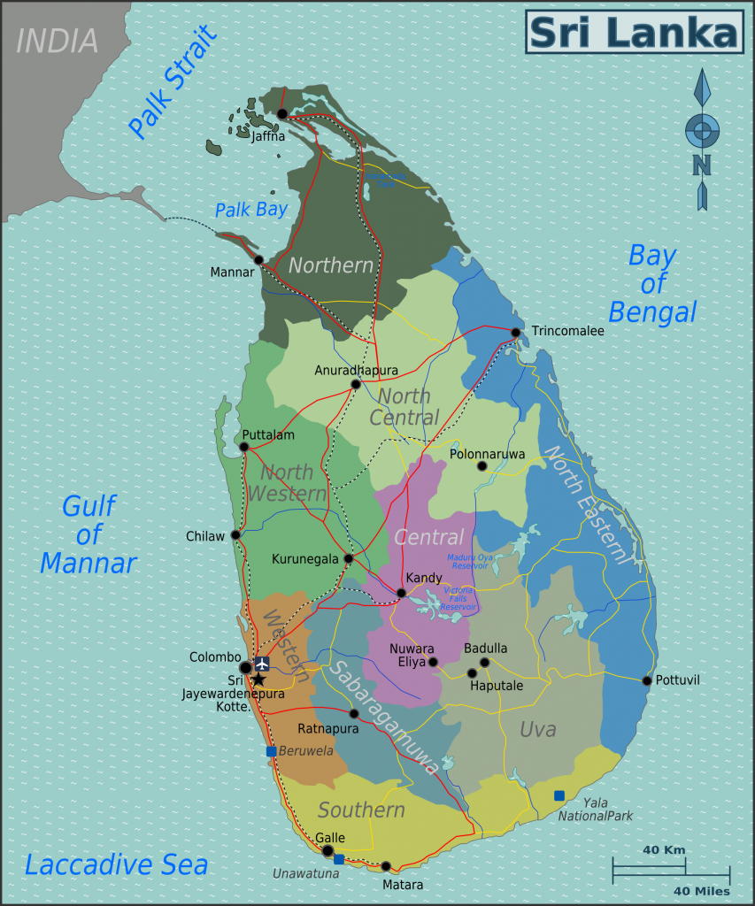 sri lanka map rubies