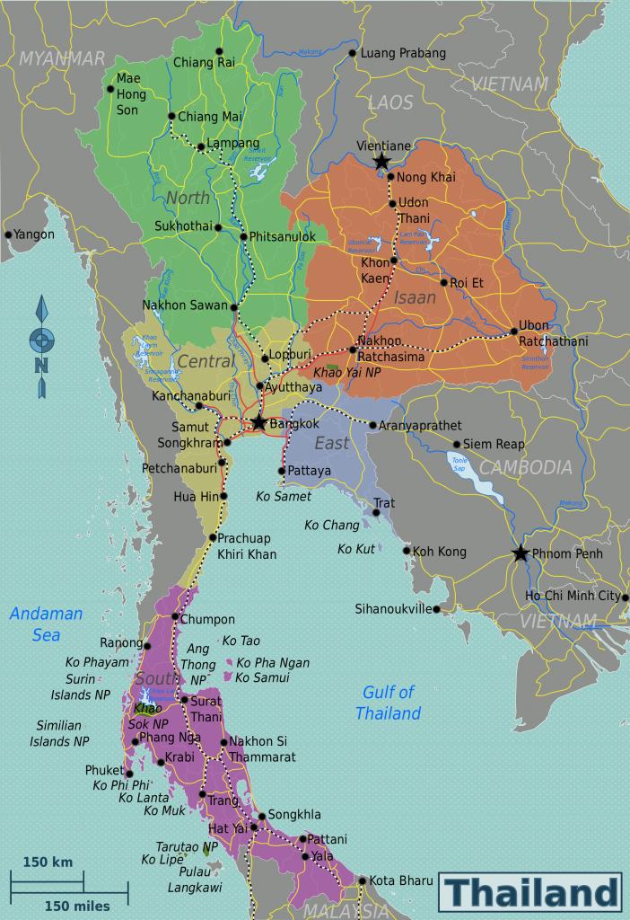thailand regions map rubies